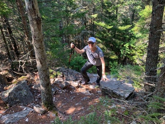 Climbing Little Kineo Mountain
