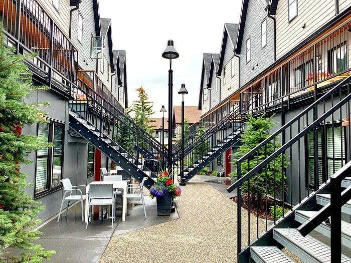 Courtyard at Basecamp Resorts in Canmore