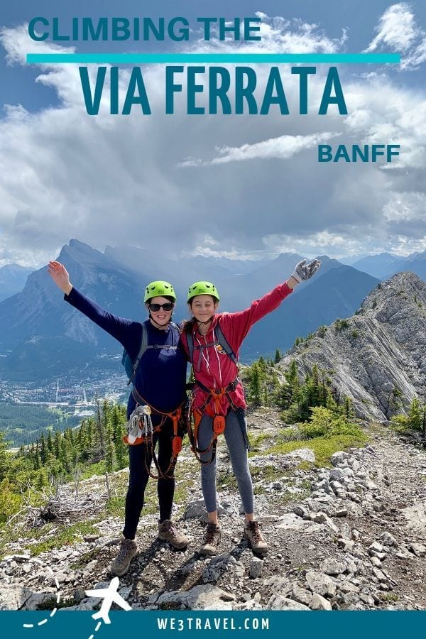 What to expect when climbing the Via Ferrata in Banff on a vacation to the Canadian Rockies. #banff #canadianrockies