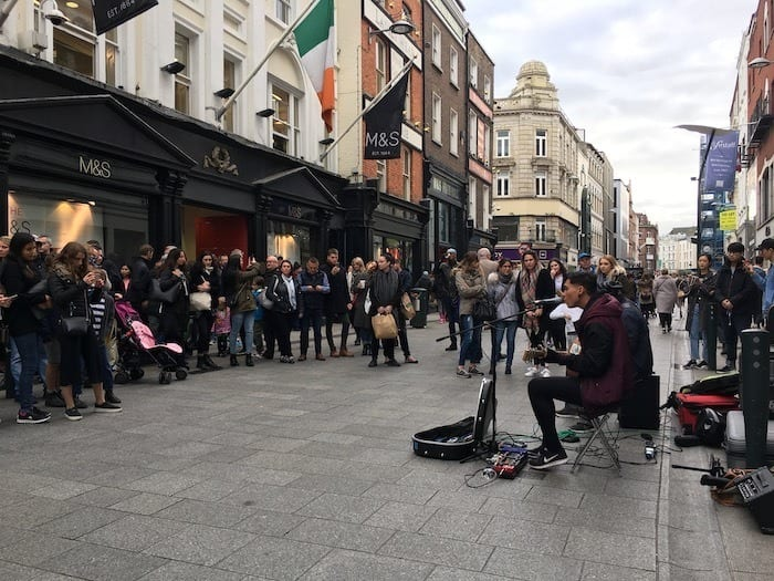 Street performers on Grafton Street