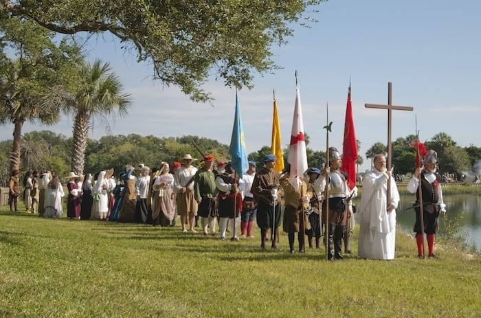 Founding day re-enactment