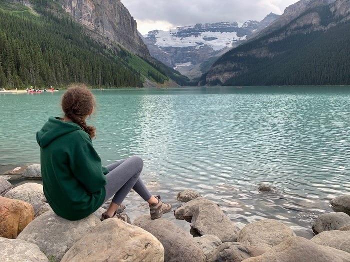 Hannah at Lake Louise