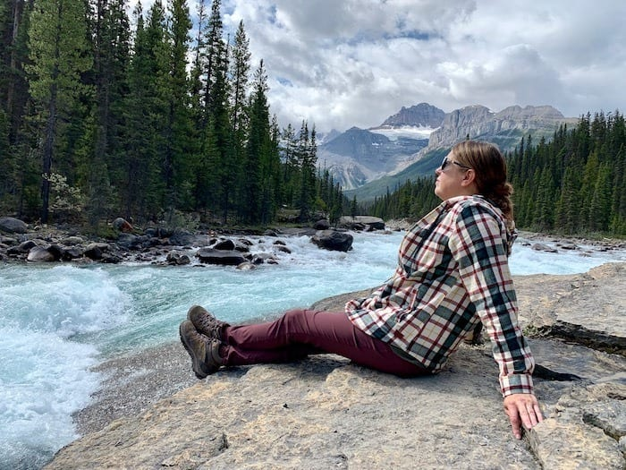Tamara at Mistaya Canyon