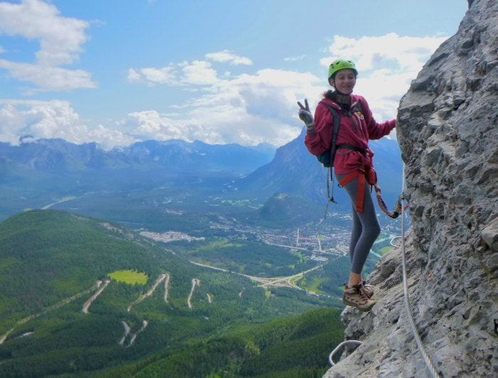 Hanging off the Mt Norquay