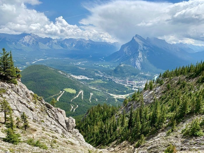 View from the top of Via Ferrata Mt Norquay Banff