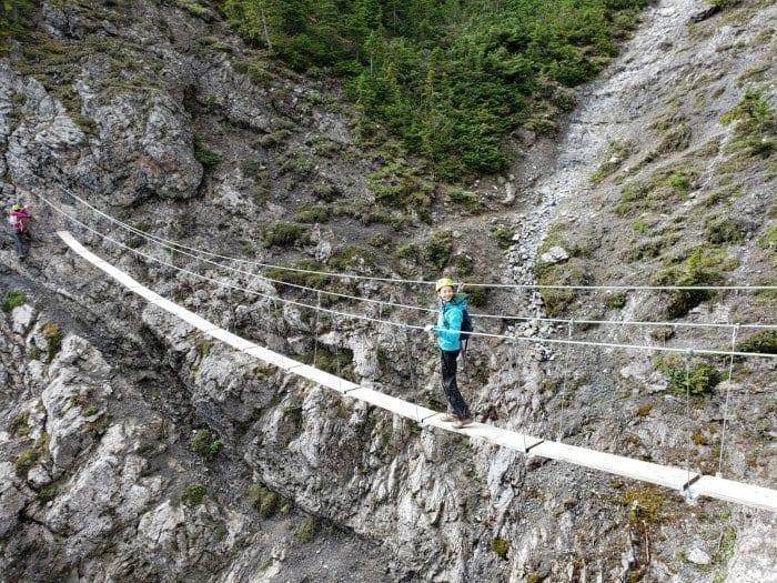 Via Ferrata plank bridge