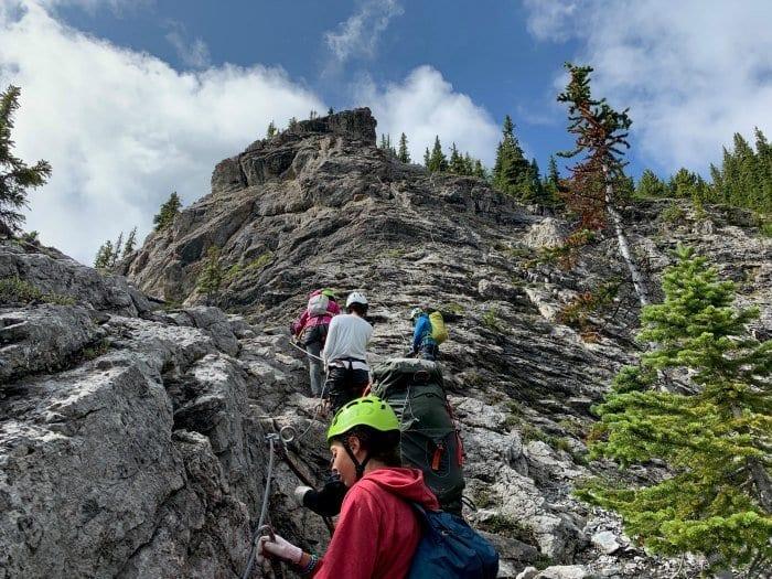 top of the Via Ferrata Banff