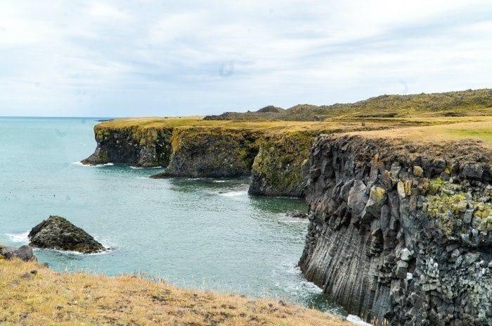 Arnarstapi cliffs on the Snaefellsnes peninsula in Iceland
