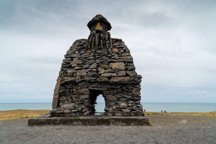 rock sculpture in Arnarstapi