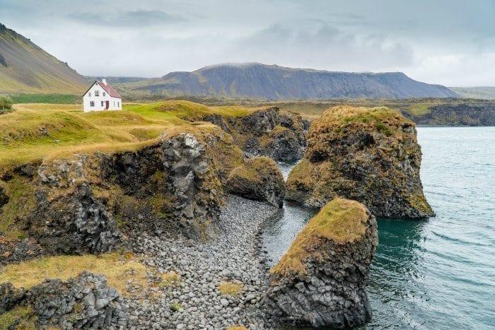 House along the Arnarstapi cliffs