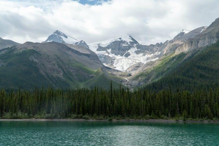 Glacier above Maligne Lake