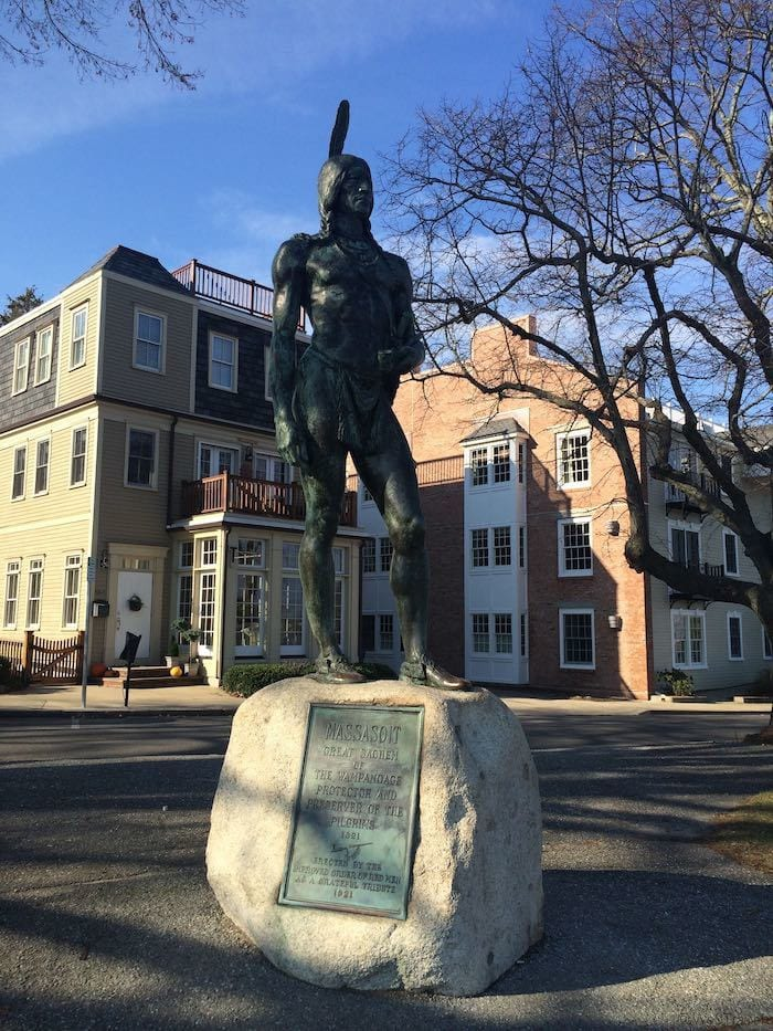 Massasoit monument in Plymouth, MA
