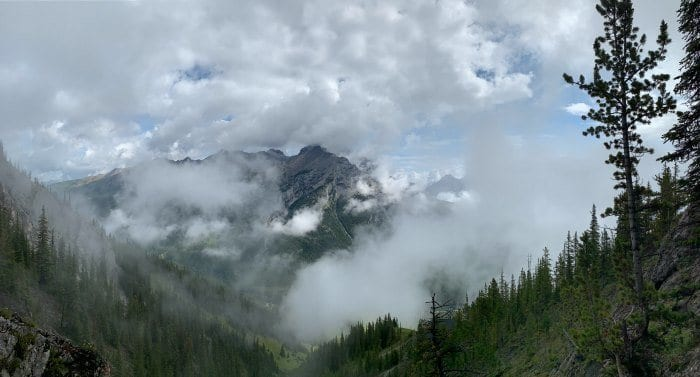 Mt Norquay in the clouds
