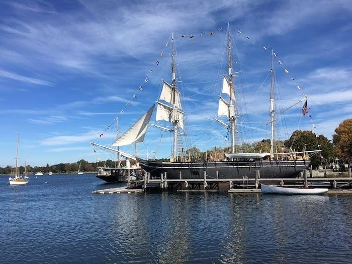Charles Morgan ship in Mystic