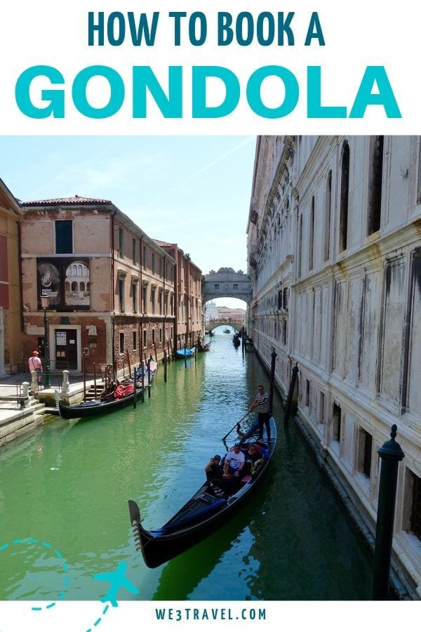 How to book a gondola in Venice