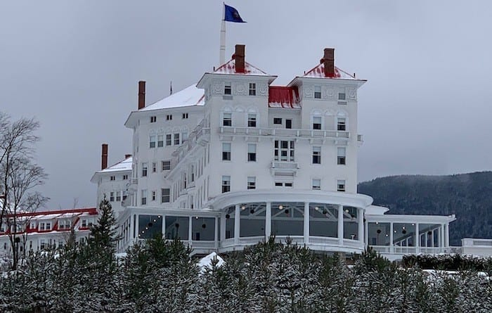 Omni Mt Washington hotel in the winter
