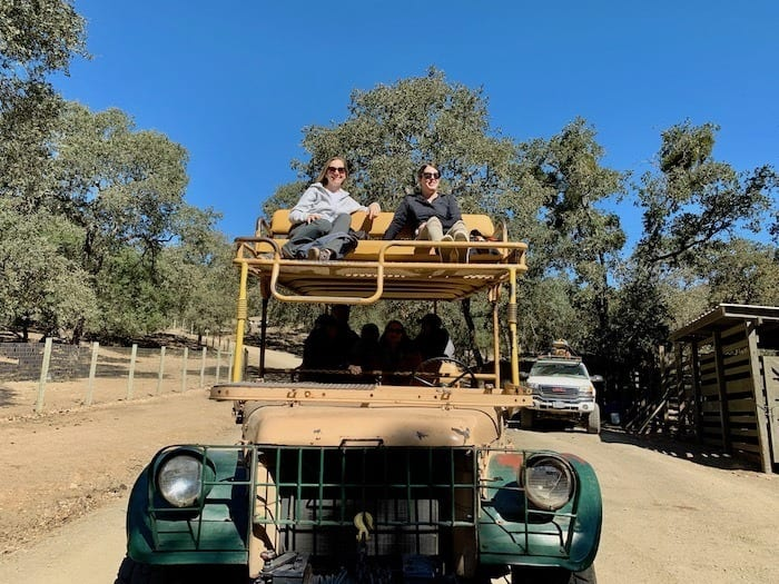 Safari truck at Safari West