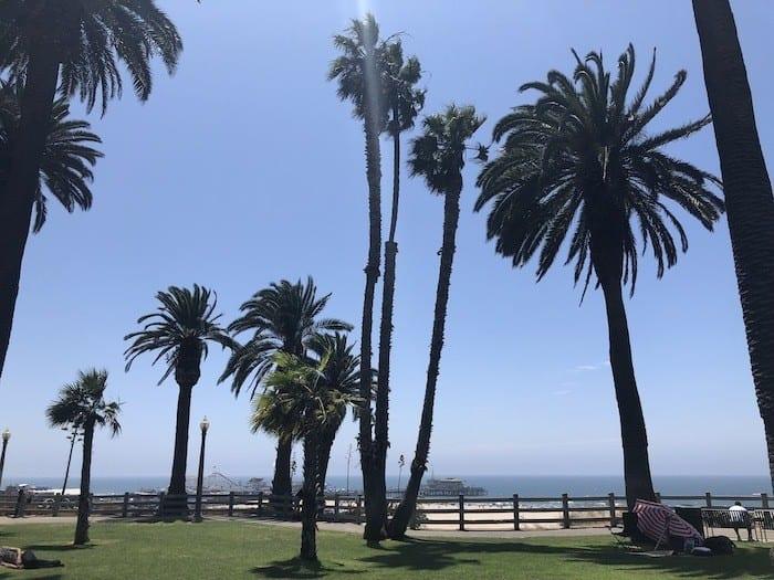 View from Ocean Avenue in Santa Monica