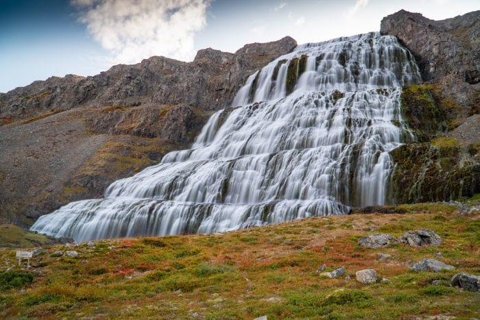 Dynjandi waterfall top
