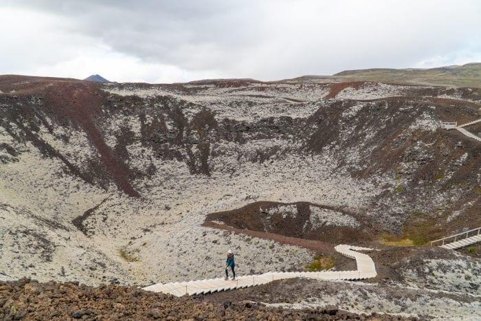 Grabrok crater in Iceland