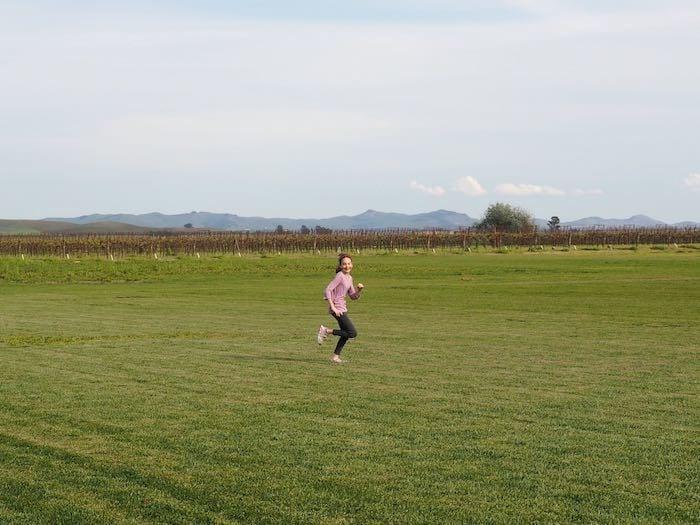 Running through the fields in Sonoma