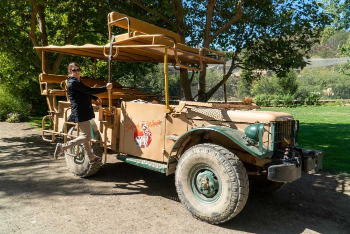 Safari West tour truck