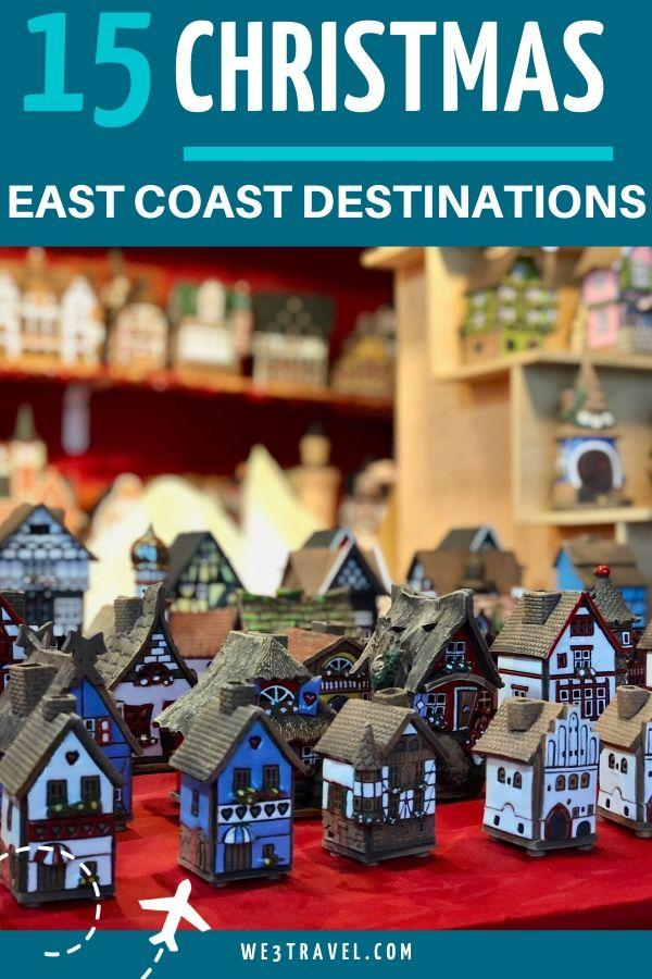15 Places to go for Christmas on the East Coast of the USA. East coast Christmas destinations.