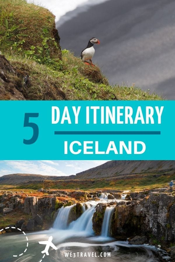 5 day Iceland itinerary puffins and waterfalls