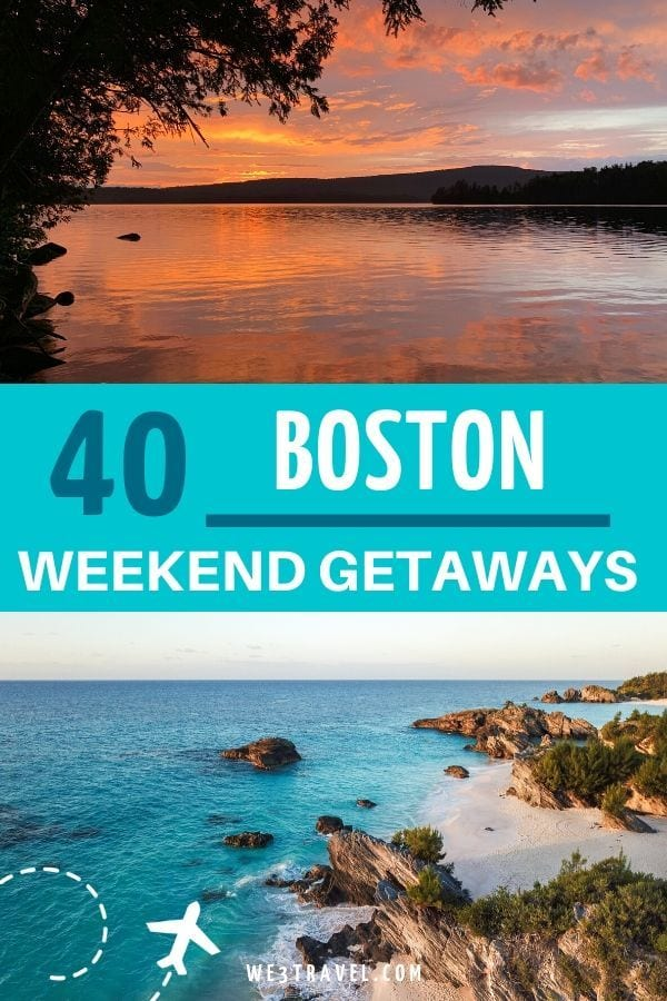 Boston weekend getaways in winter, spring, summer, and fall