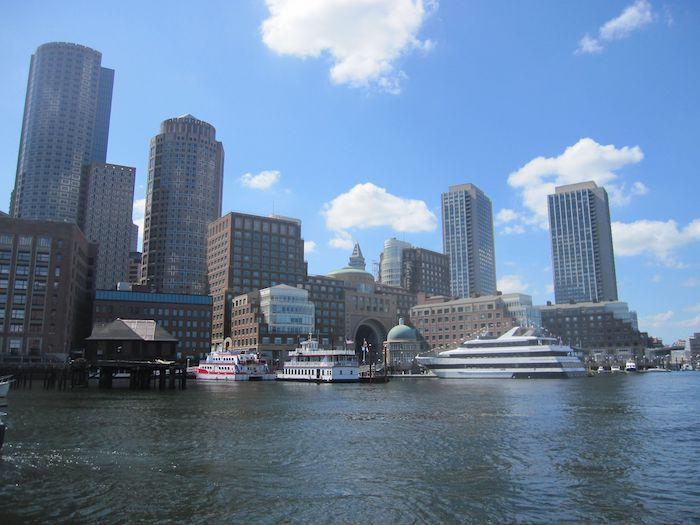 Boston harbor from the water