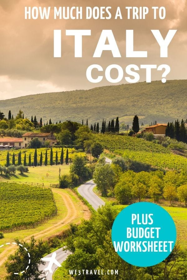 How much does a trip to Italy cost