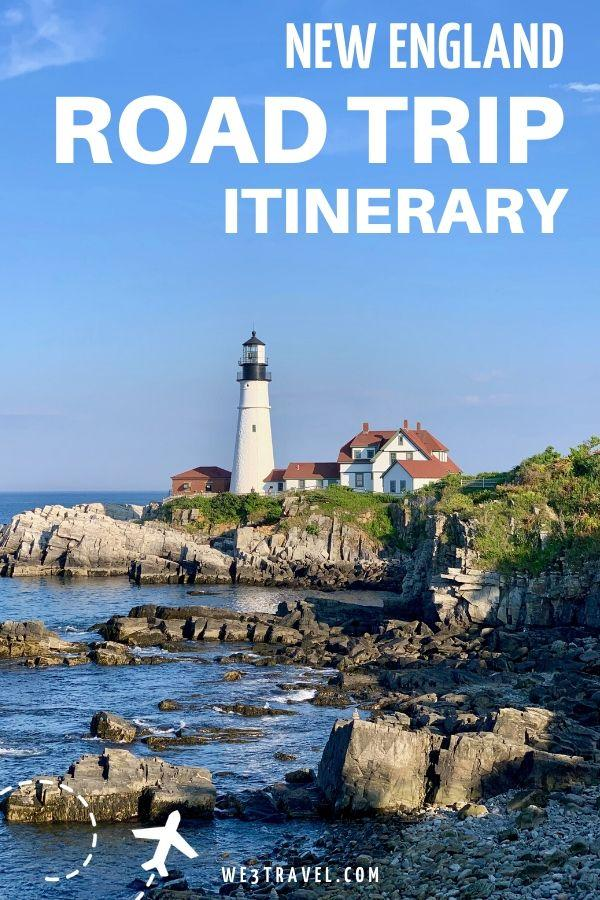 New England Road trip itinerary - Portlandhead Lighthouse by the rocks