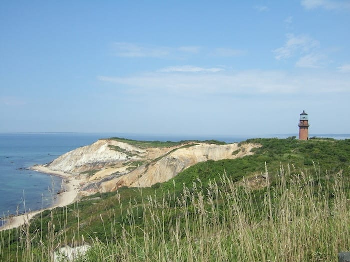 Clay cliffs at Aquinnah