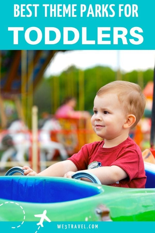 best theme parks for toddlers - toddler boy on ride