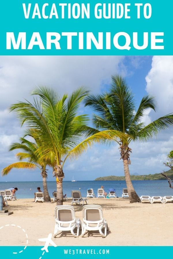 Vacation guide to Martinique - two palm trees in the sand