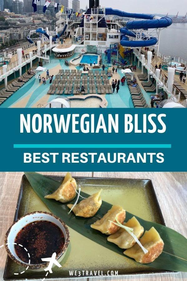 Best restaurants on the Norwegian Bliss cruise ship