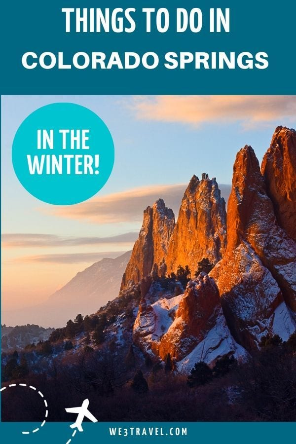 Things To do in Colorado Springs in the winter - Garden of the Gods