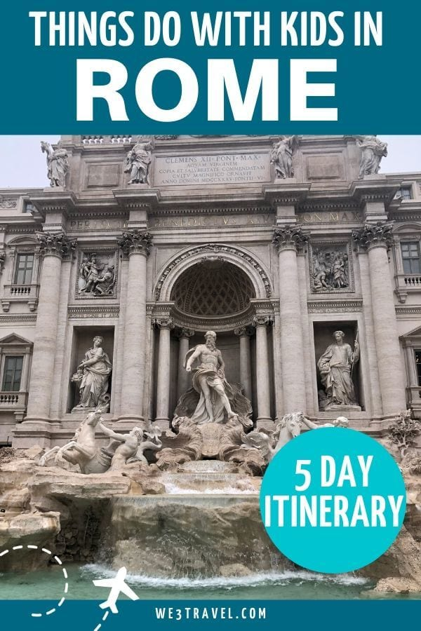 Things to do in Rome with kids - Trevi Fountain