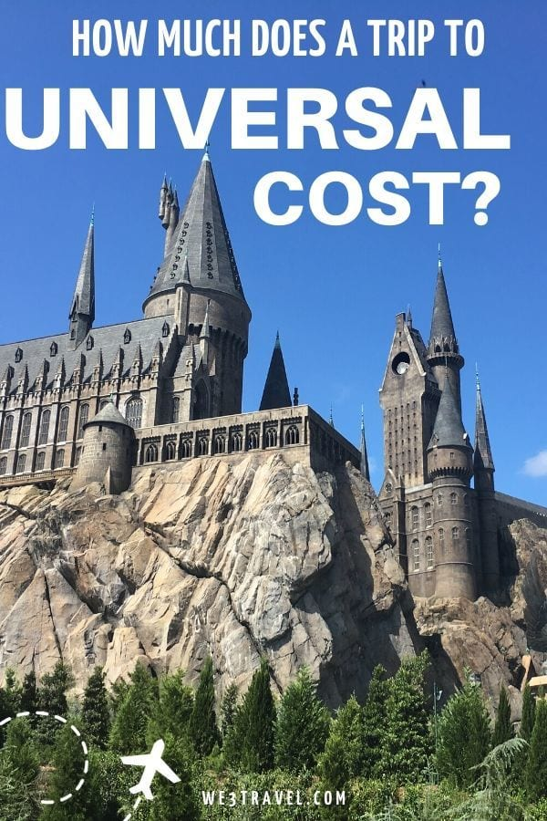 How much does a trip to Universal cost? Hogwarts castle
