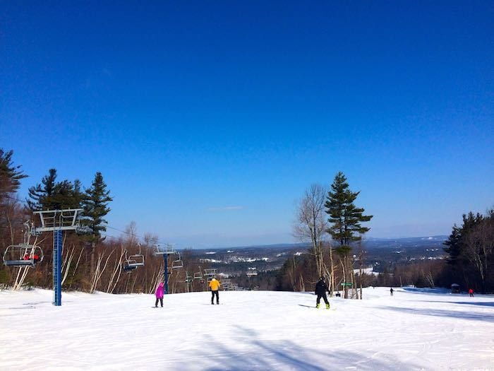 view from the top of the green trails at Wachusett