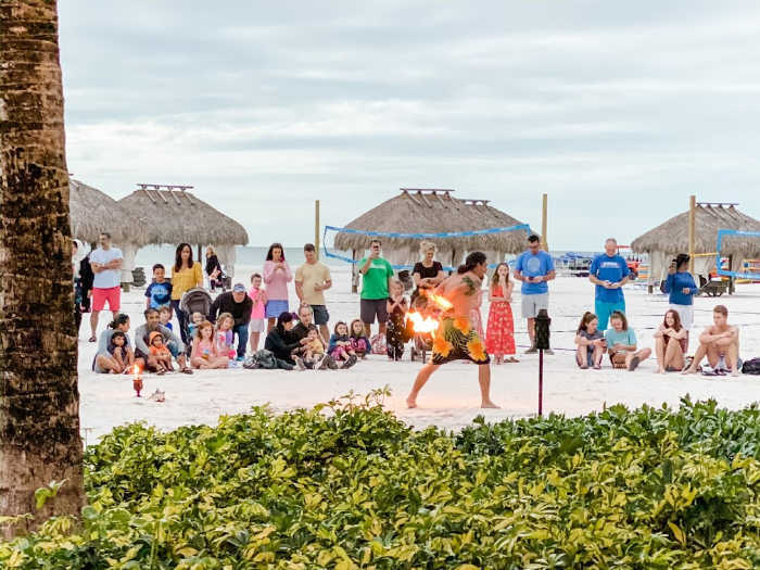 sunset celebration at the JW Marriott Marco Island