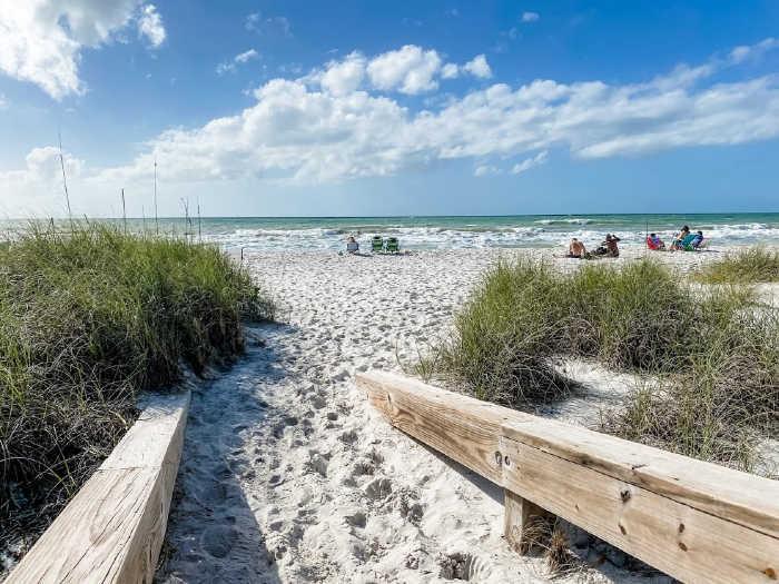 Entrance to Lowdermilk Park Beach in Naples FL