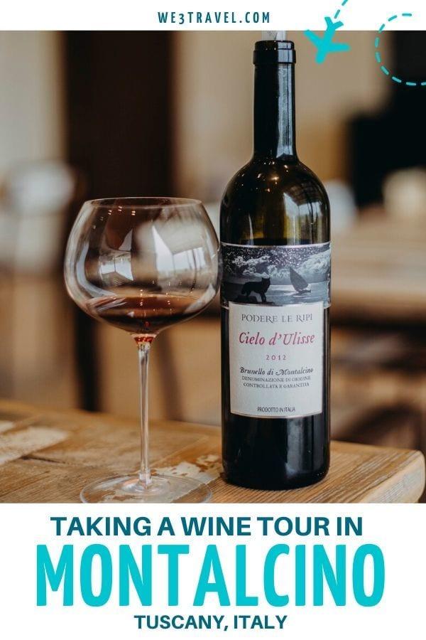 Montalcino wine tour in Tuscany Italy