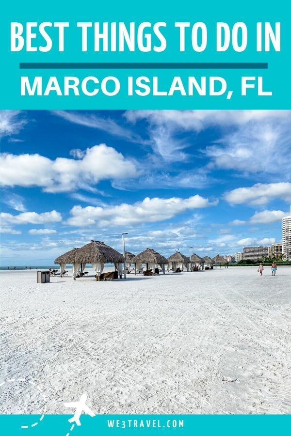 Best things to do in Marco Island Florida - beach cabanas on white sand beach