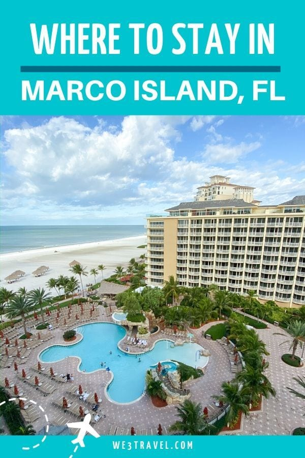 Where to stay in Marco Island Florida - pools of JW Marriott from above