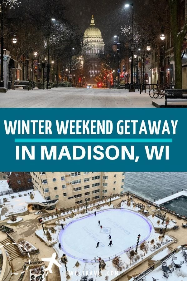 Winter weekend getaway to Madison Wisconsin including things to do, where to stay, and where to eat. #madison #wisconsin