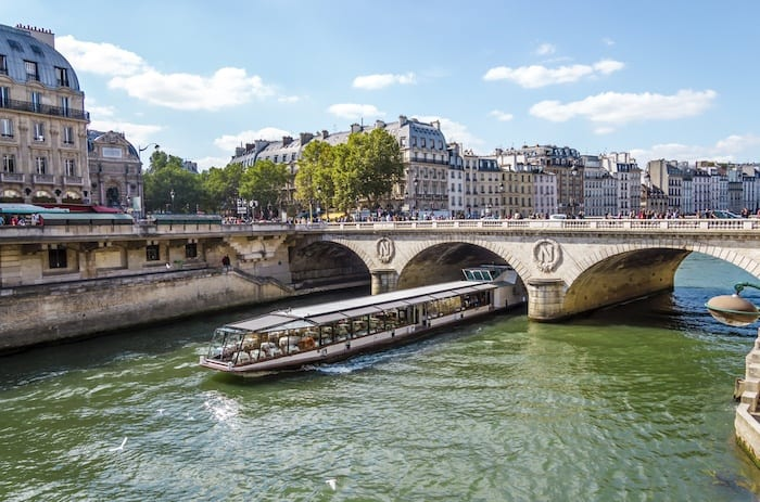 Bateaux on the river Seine in paris