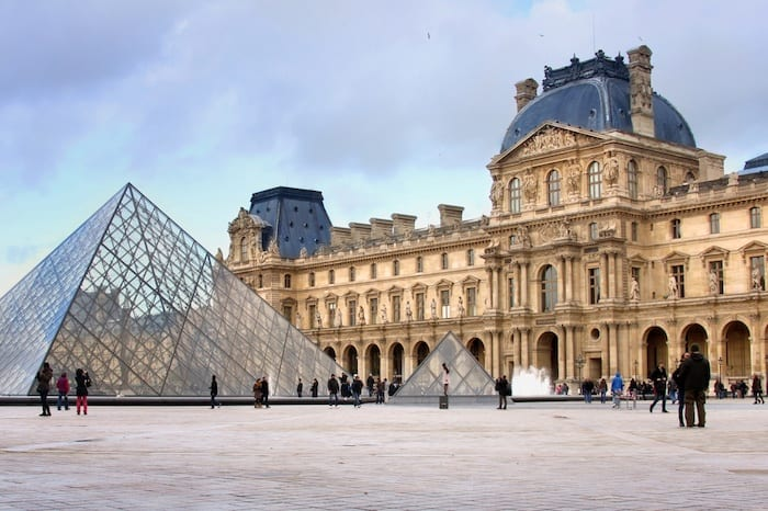 Louvre museum glass pyramid