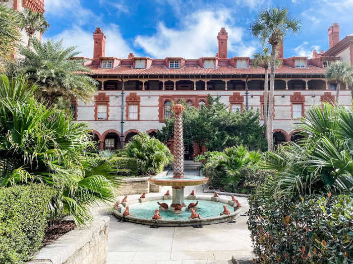 Flagler College fountain and sundial