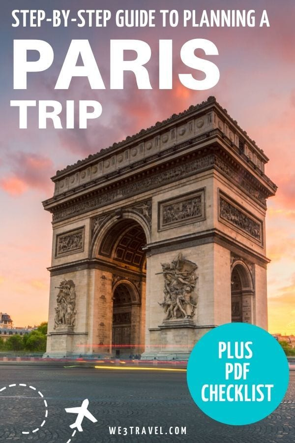Step by step guide to planning a Paris trip